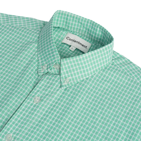 Button-down Gingham Shirt - Mint