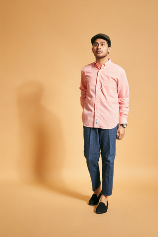 Button-down Gingham Shirt - Salmon