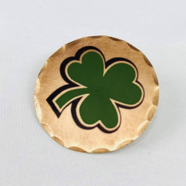 Shamrock 4 Leaf Clover Forged Copper Ball Marker