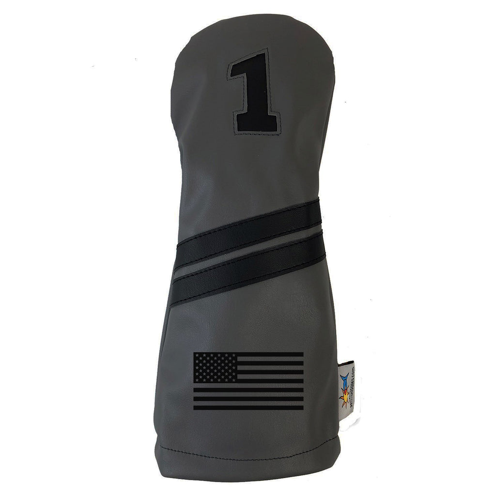 Grayscale USA Flag Driver Golf Headcover