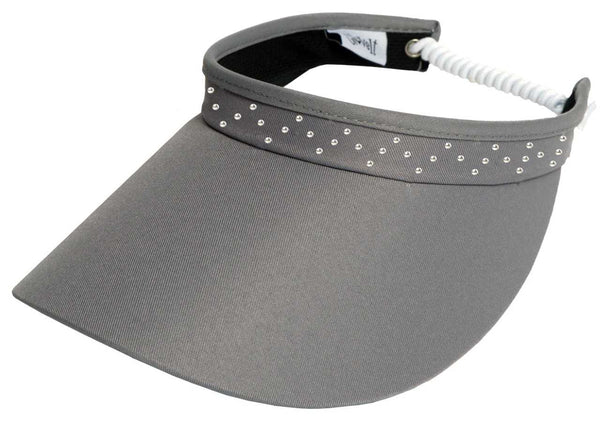 GREY BLING COIL Women's Golf Visor