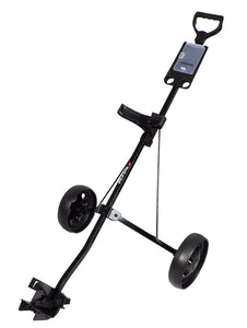 Jef World of Golf- Deluxe Steel Push Cart Black