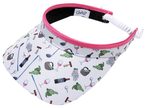 NINE & WINE Women's Golf Visor
