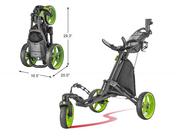 3-Wheel Golf Push Cart