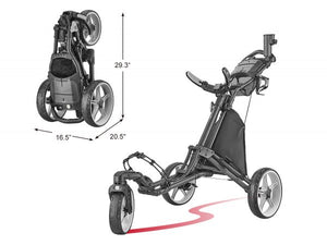 Golf Push Cart with Umbrella Holder