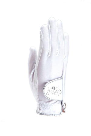WHITE CLEAR DOT Women's Golf Glove