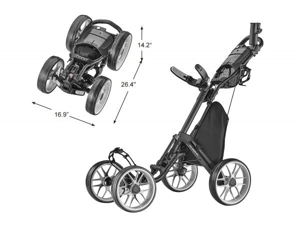 Grey Golf Push Cart