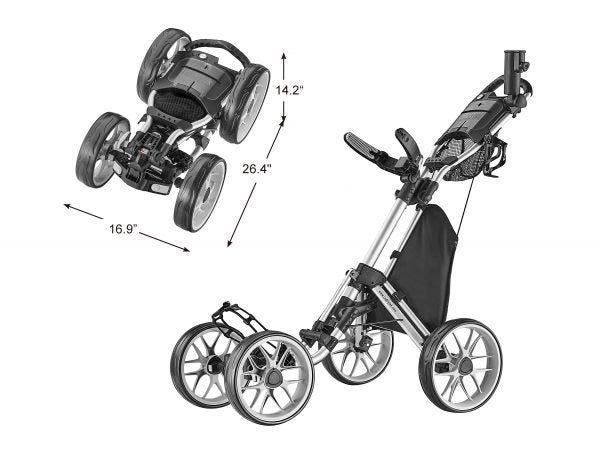 Silver Golf Push Cart