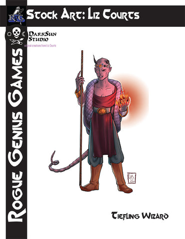 Stock Art: Tiefling Wizard