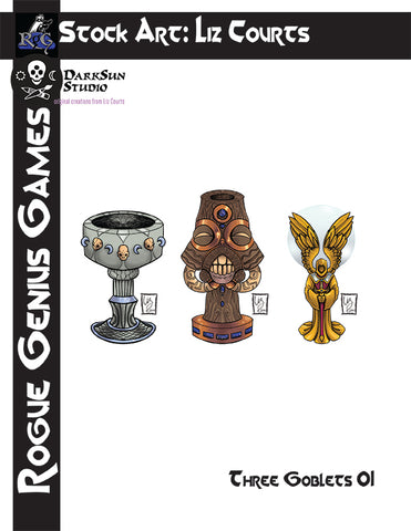 Stock Art: Three Goblets #1