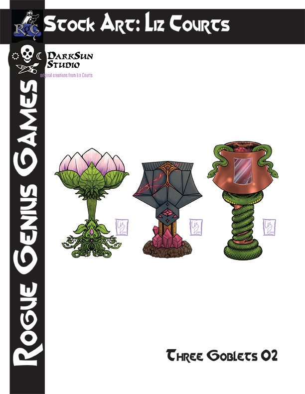 Stock Art: Three Goblets #2