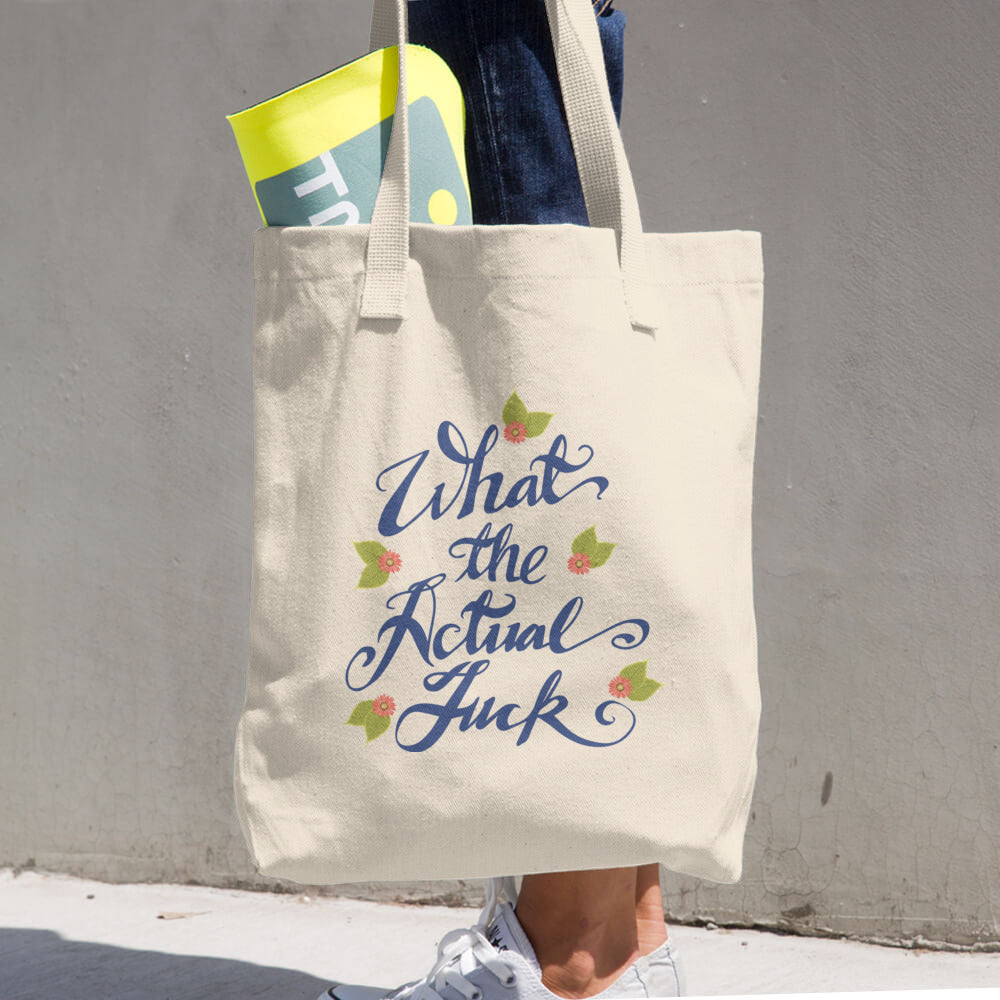 What the AF: Cotton Tote Bag