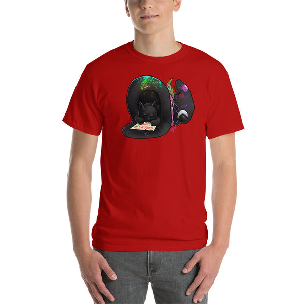 Black Cat in a Hat: Short-Sleeve T-Shirt