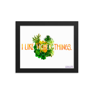 I Like Lichen Things: Framed poster