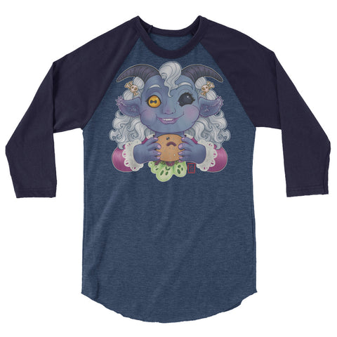 Abaddon Jr.: 3/4 sleeve raglan shirt