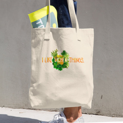 I Like Lichen Things: Cotton Tote Bag
