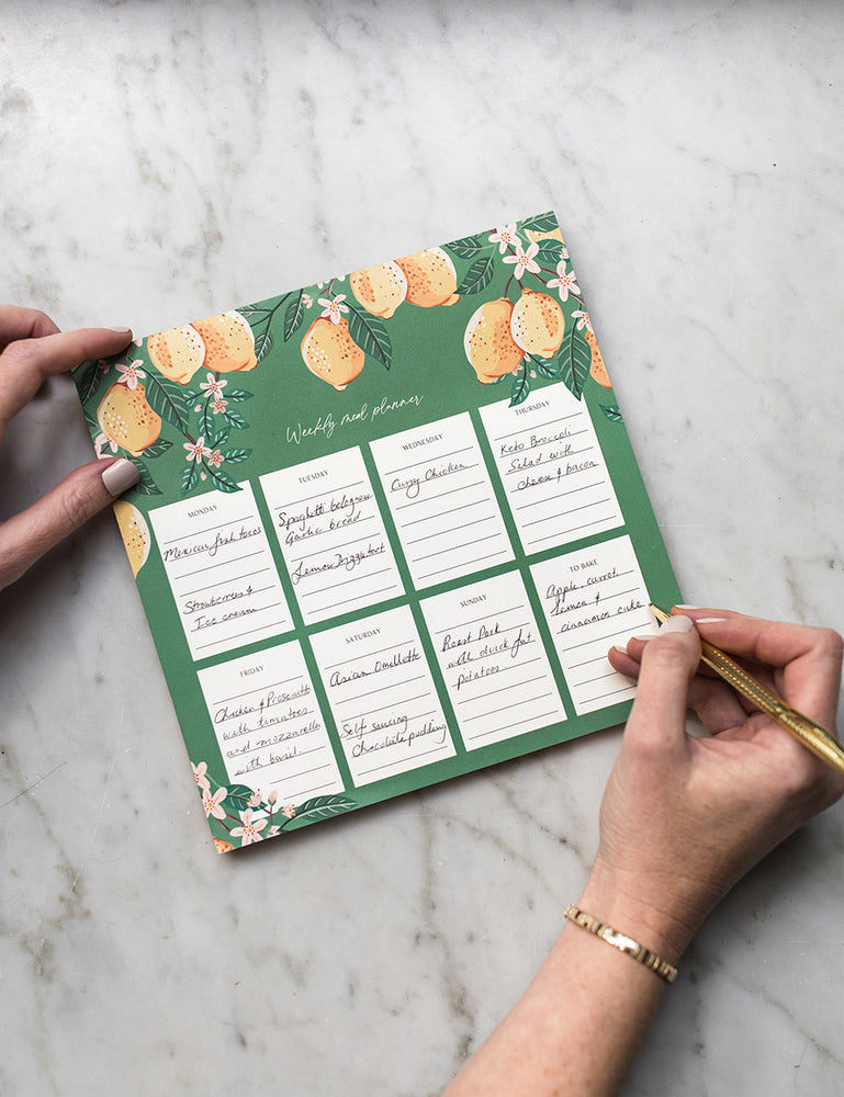 Meal Planner Notepad Lemons