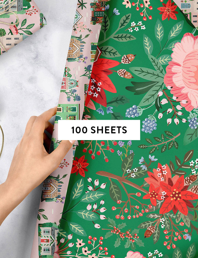 Houses / Green Floral 100pk