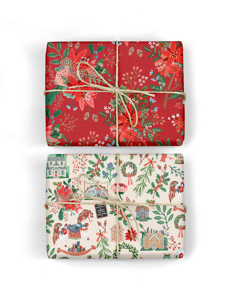 Christmas Joy / Red Floral 6pk