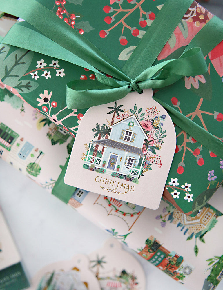 "Gift Tags 12 pack ""Houses"""
