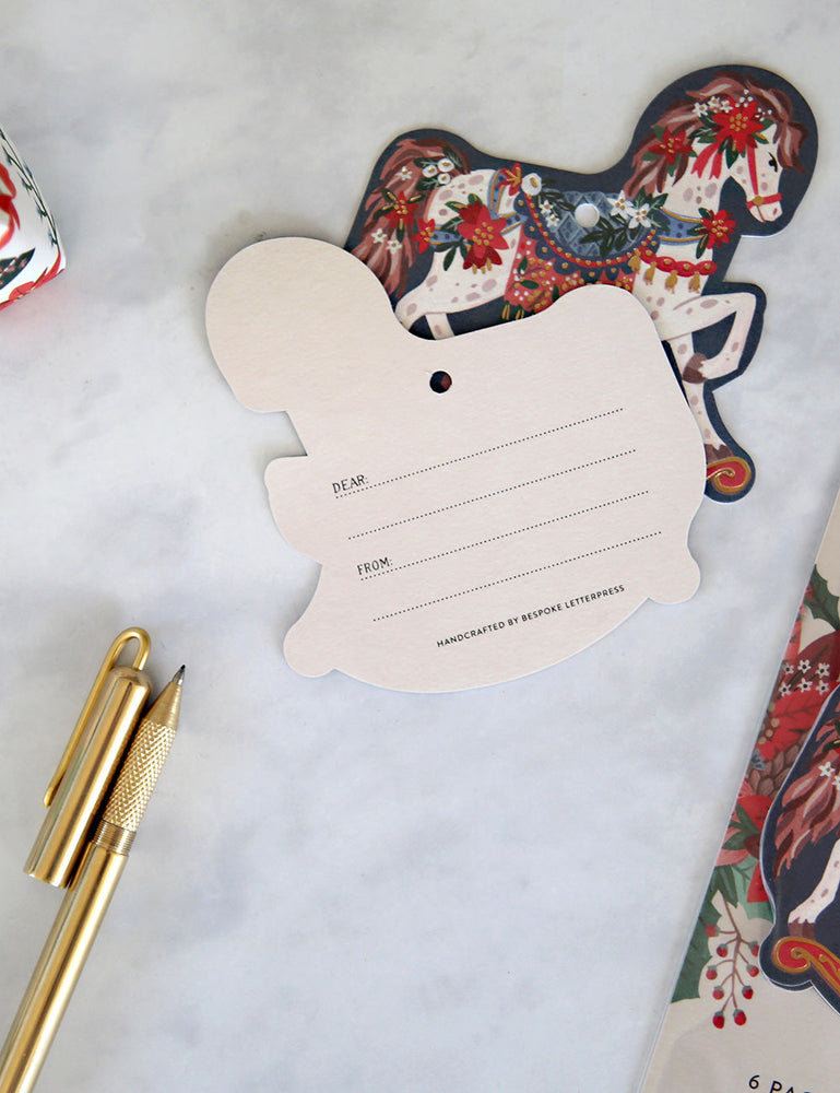 "Gift Tags 6 pack ""Rocking Horse"""