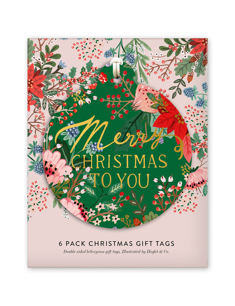 "Gift Tags 6 pack ""Merry Christmas"""