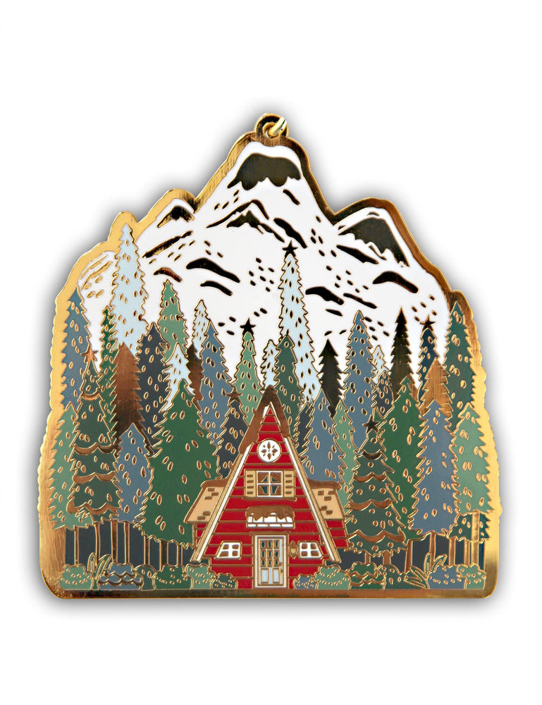 Fine Enamel Christmas Ornament - Swiss Alps