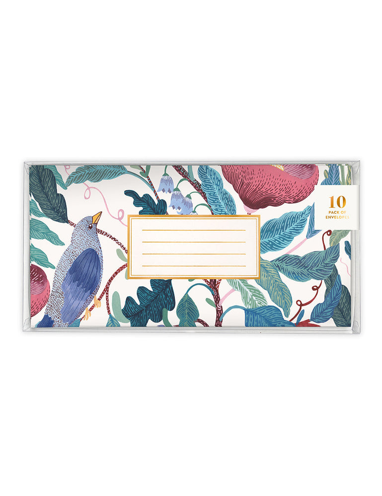 Blomstra 10 Pack DL Envelopes - Bird Twig
