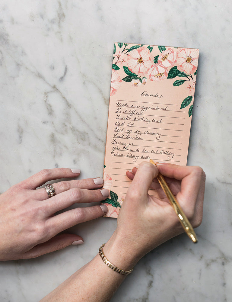"Camelias ""Reminders"" DL Notepad"