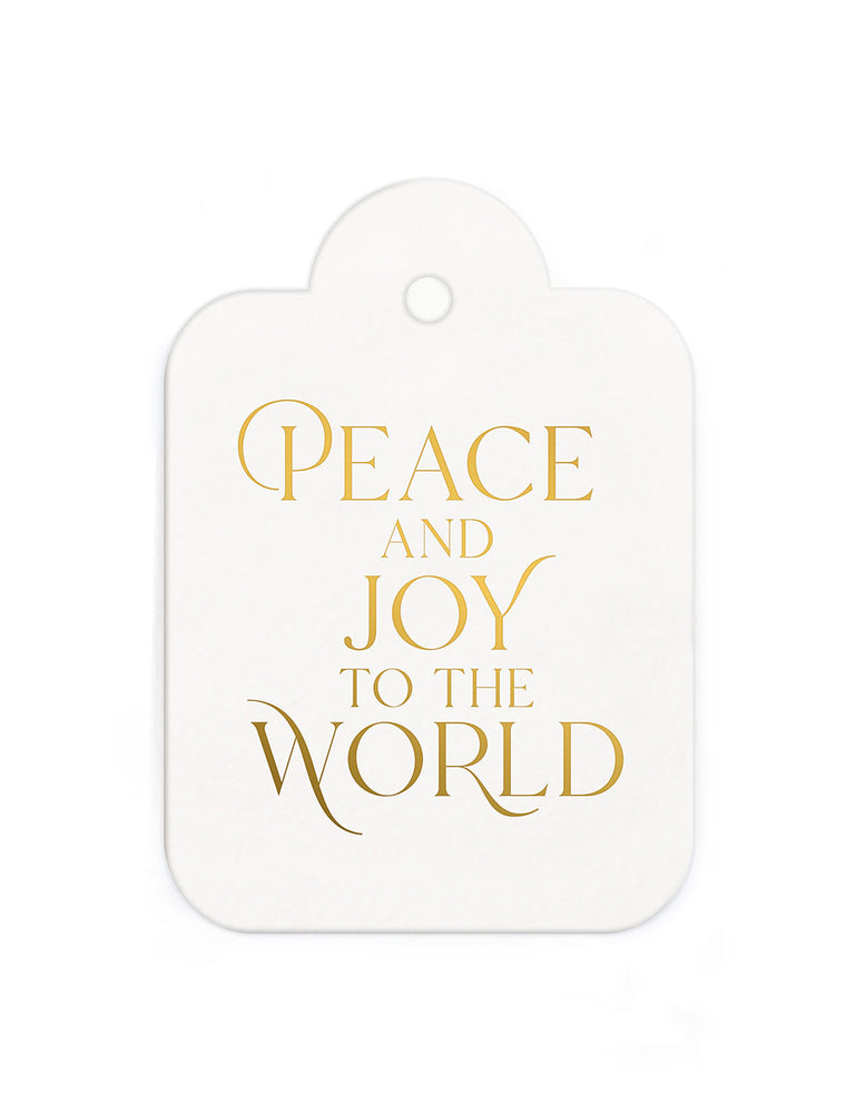 "Gift Tags 6 pack ""Peace and Joy"""