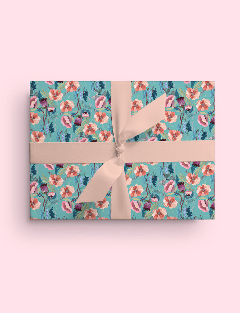 Hare/Butterfly 6pk gift wrap