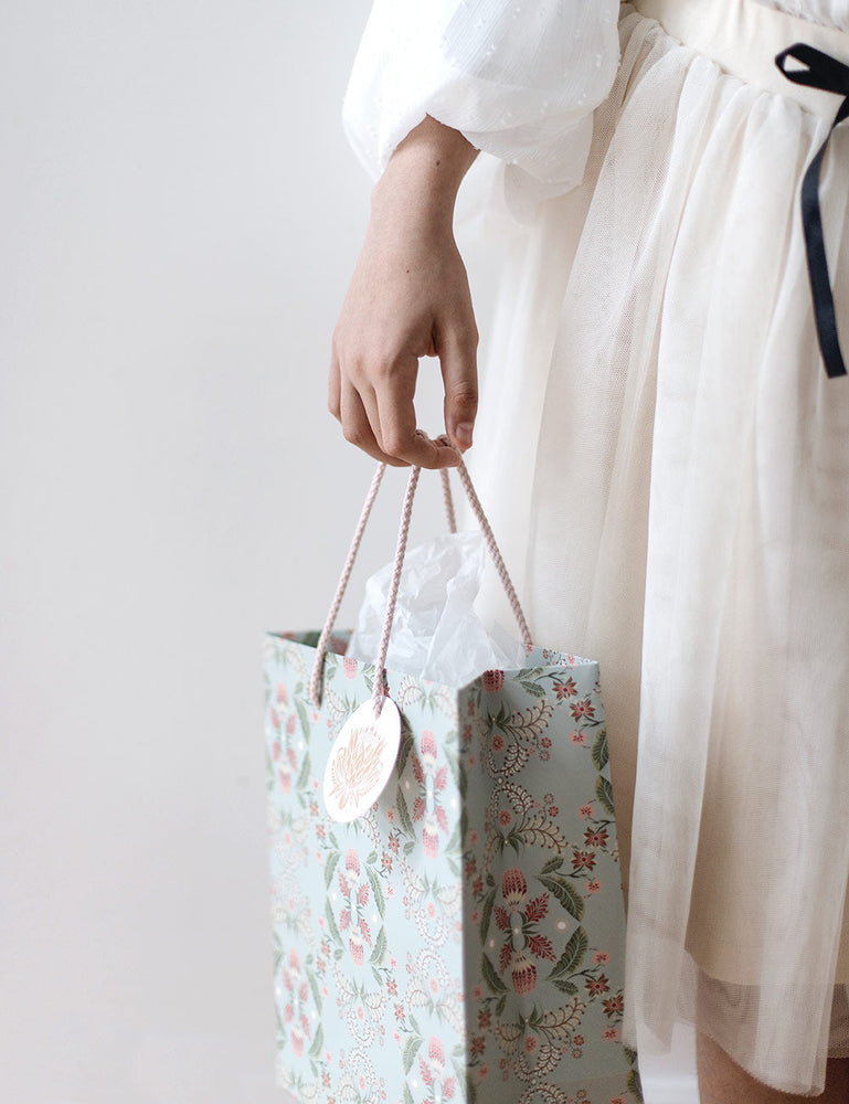 Medium Gift Bag - Light Blue