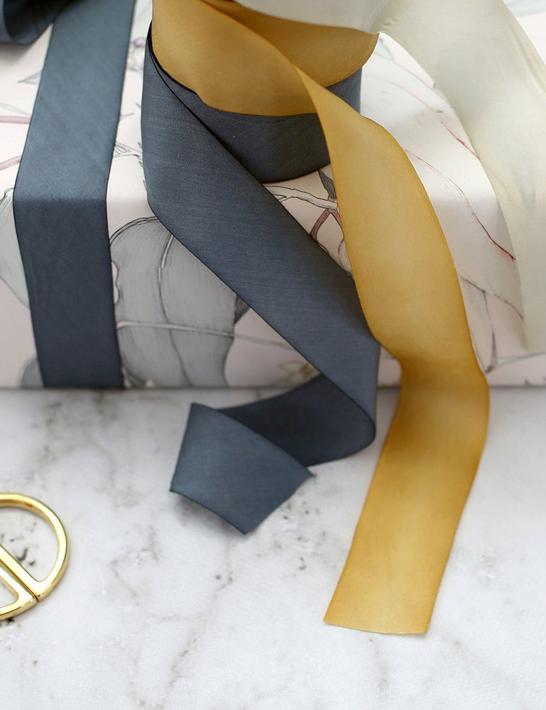 Gold Silk Ribbon - 3 metres