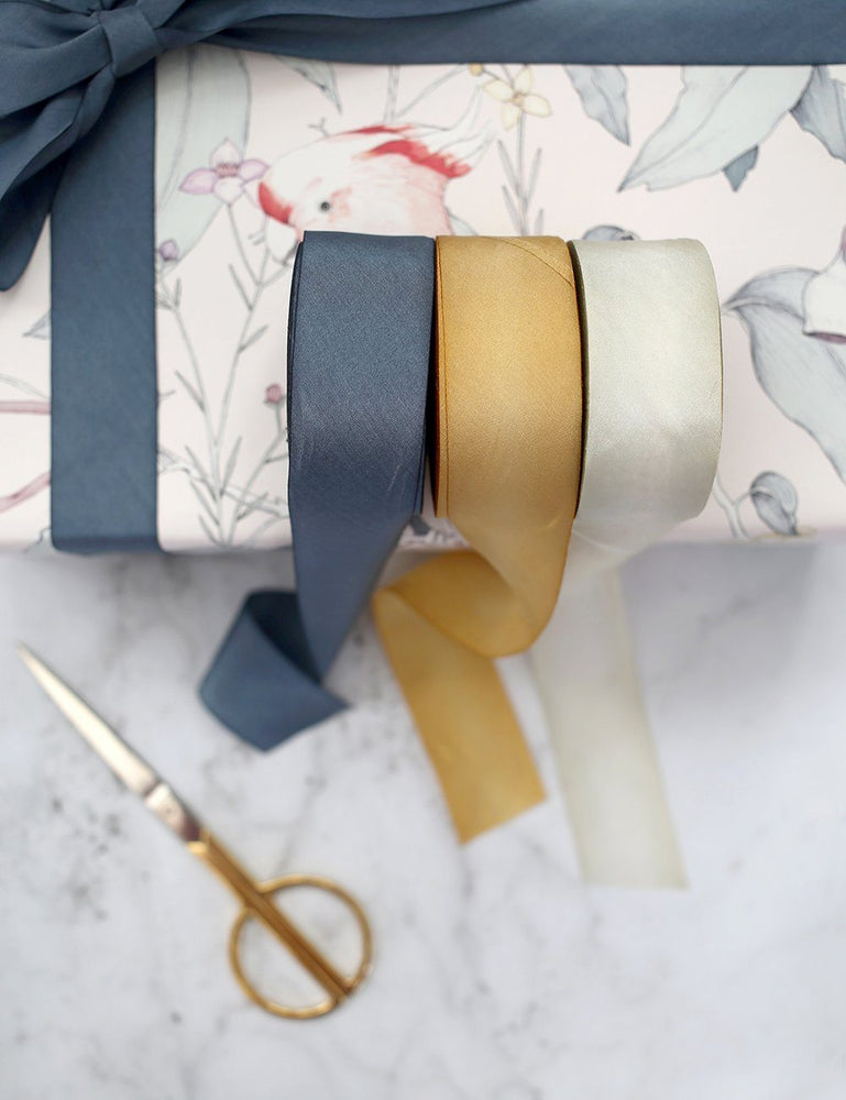 Denim Silk Ribbon - 3 metres