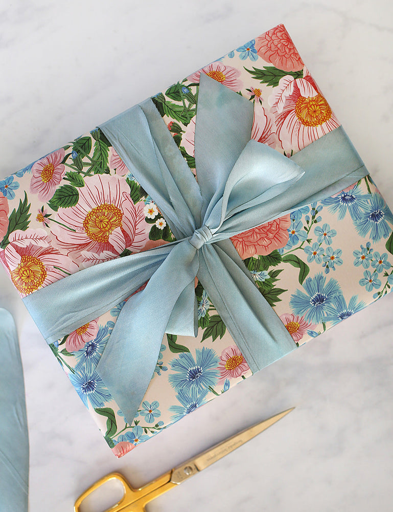 Duck Egg Blue Silk Ribbon - 3 metres