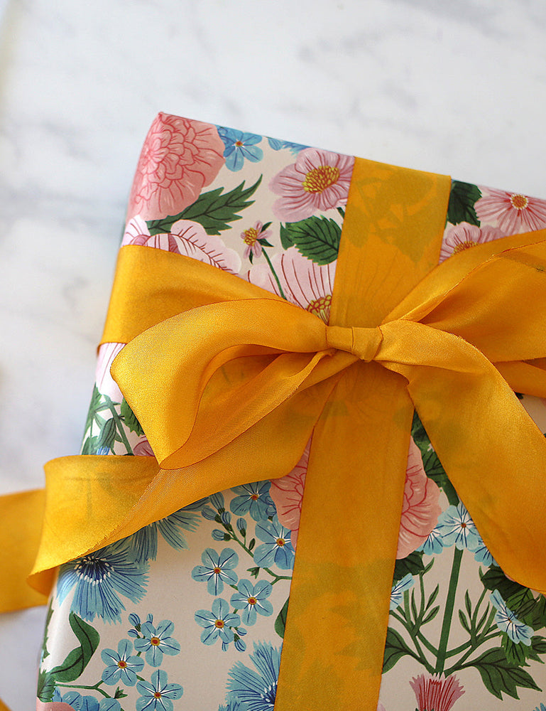 Butterscotch Yellow Silk Ribbon - 3 metres