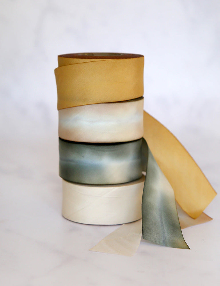 Whitewash Silk Ribbon - 3 metres