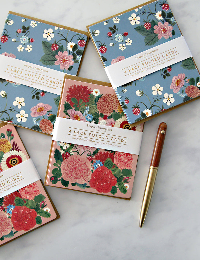 "Folk 4pk ""Floral"" card set"