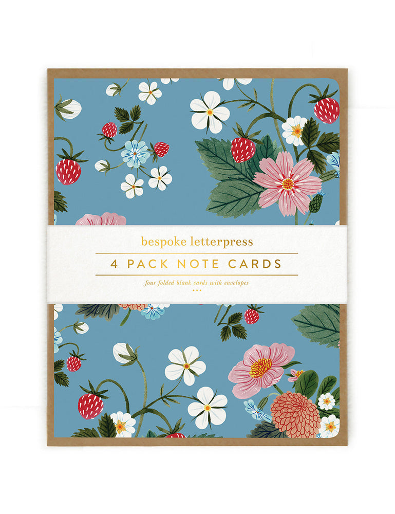 "Folk 4pk ""Strawberry"" card set"