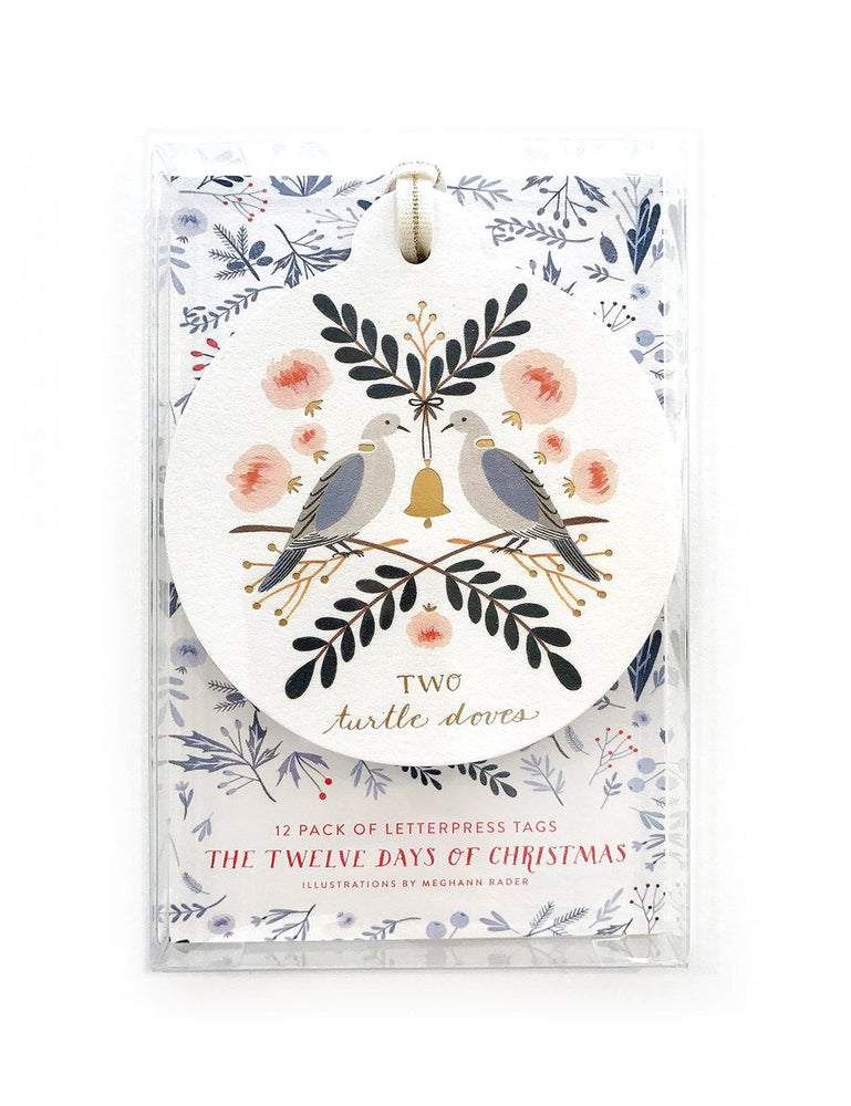 12 Days of Christmas Bauble Tags - 12 pack