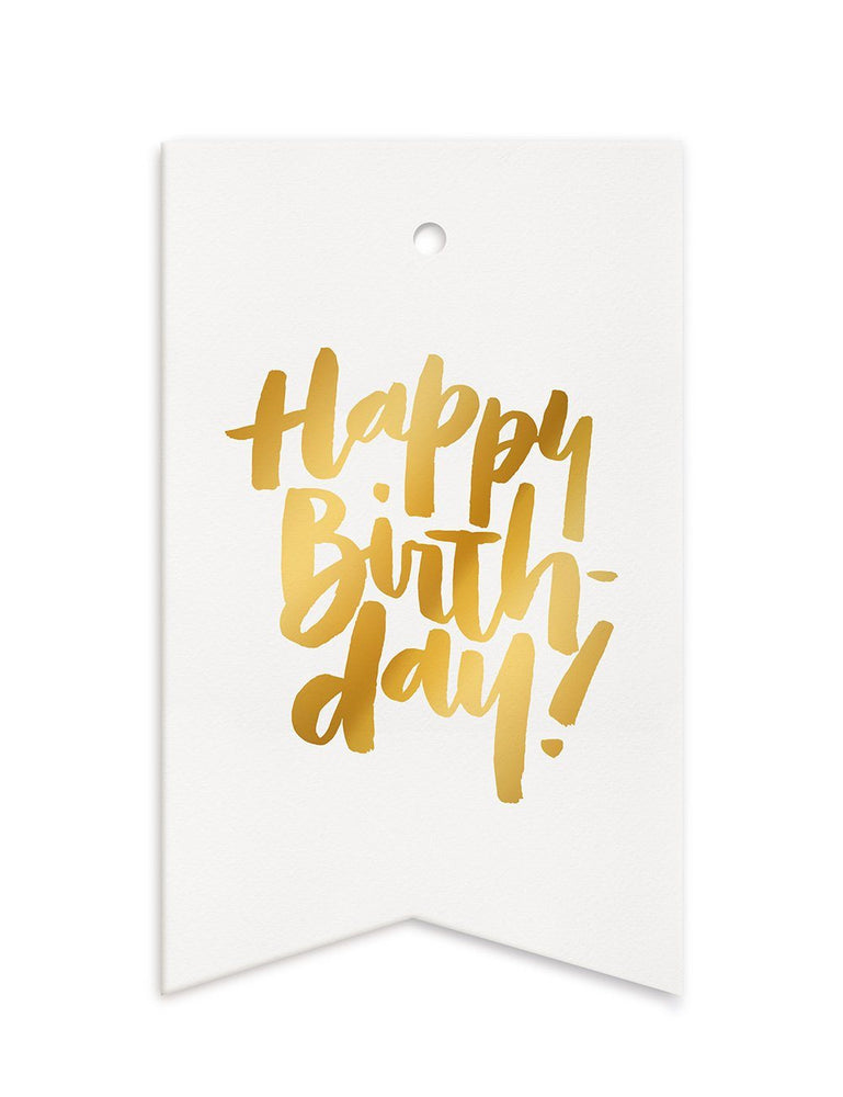 Happy Birthday Gift Tags - 10 pack
