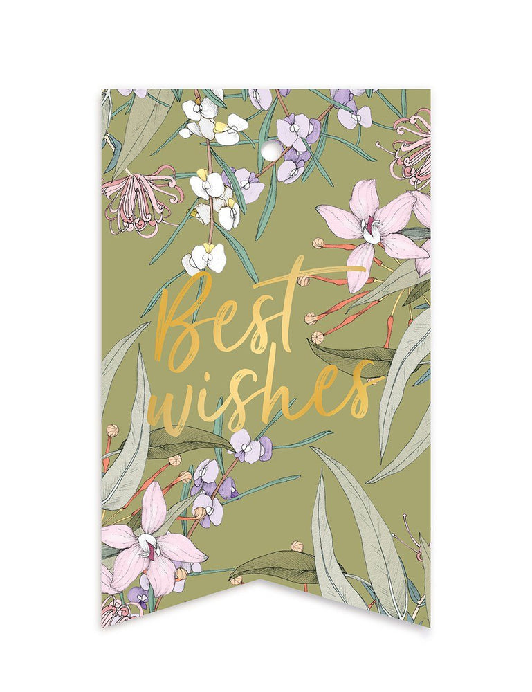 Native 'Best Wishes' Gift Tag - 10 pack