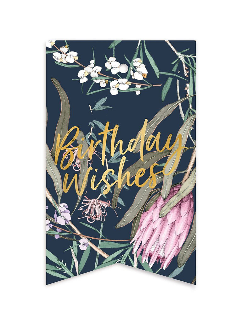 Native 'Birthday Wishes' Gift Tags - 10 pack