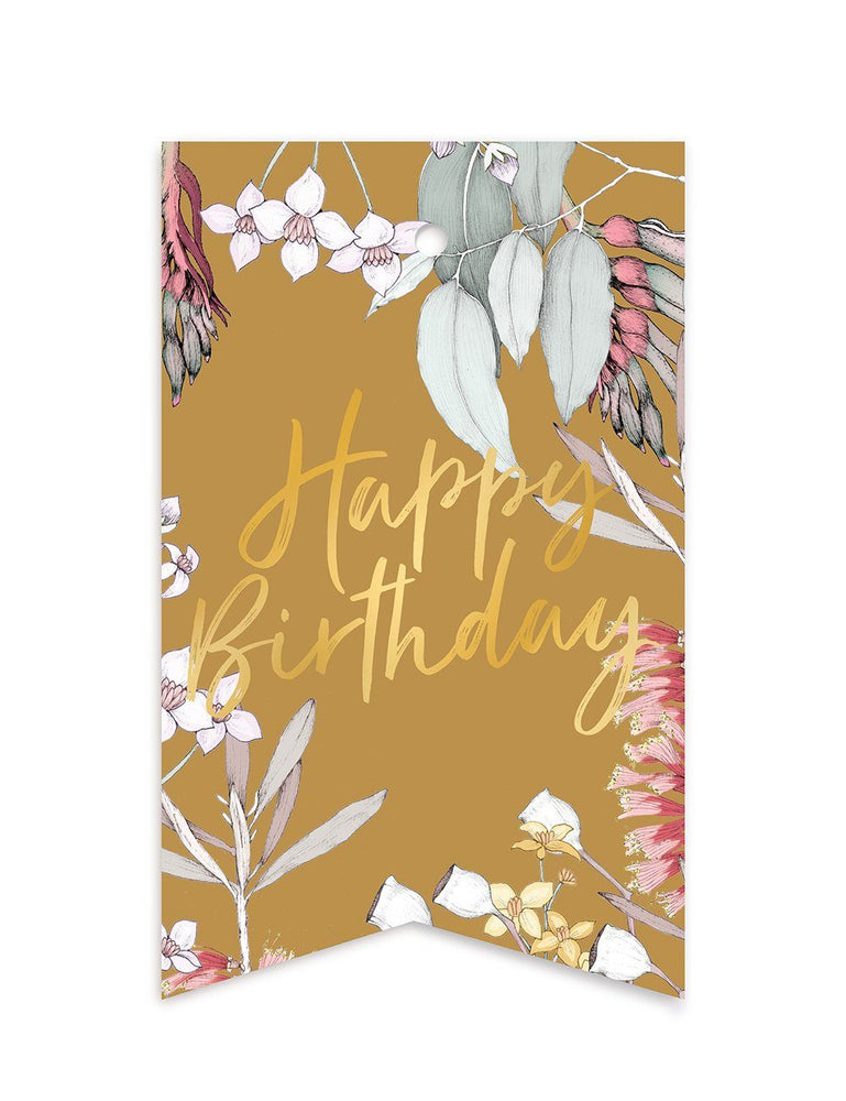 Native 'Happy Birthday' Gift Tags - 10 pack