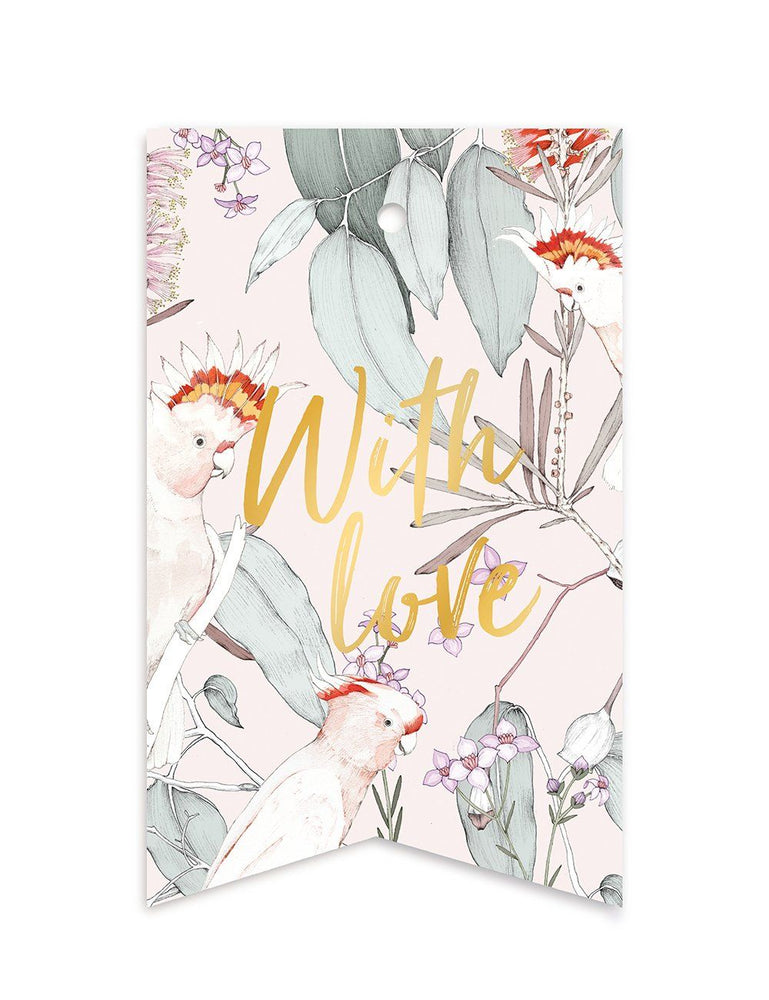 Native 'With Love' Gift Tags - 10 pack