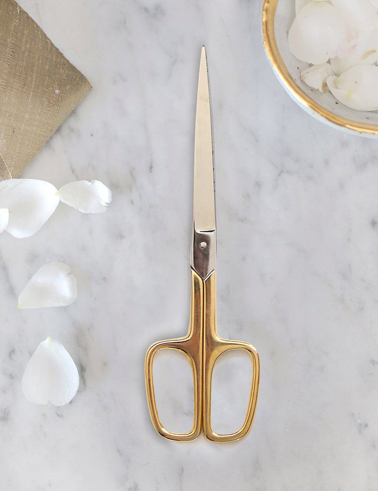 Vintage gold plated scissors