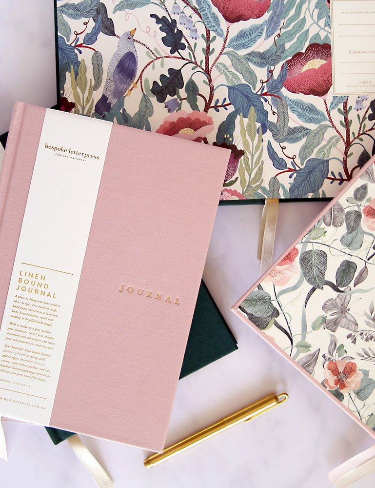 Linen Bound Journal - Blush