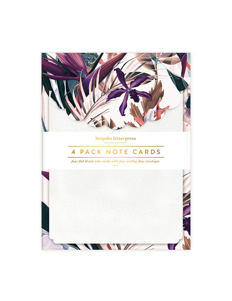 Black Cockatoo Scallop Notecard Set
