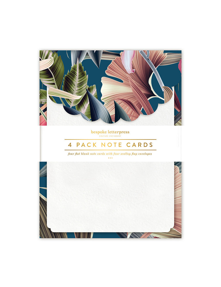 Teal Scallop Notecard Set