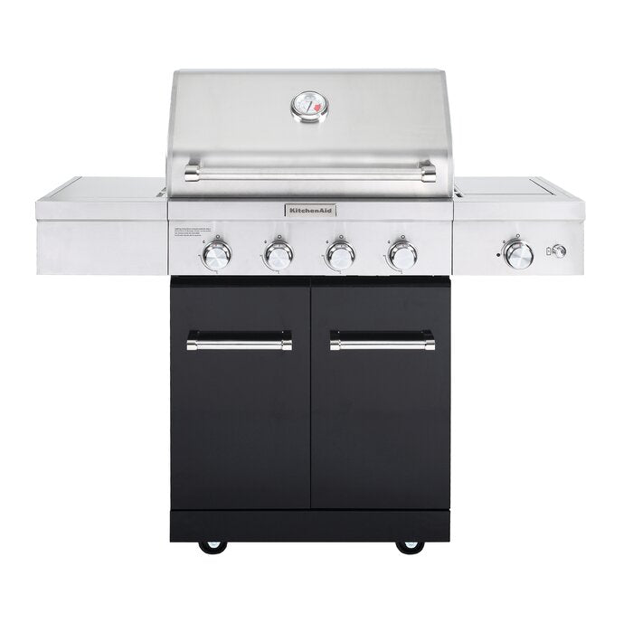 4-Burner Propane BBQ in Stainless Steel with Ceramic ...